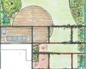 Natuurlijke strakke tuin