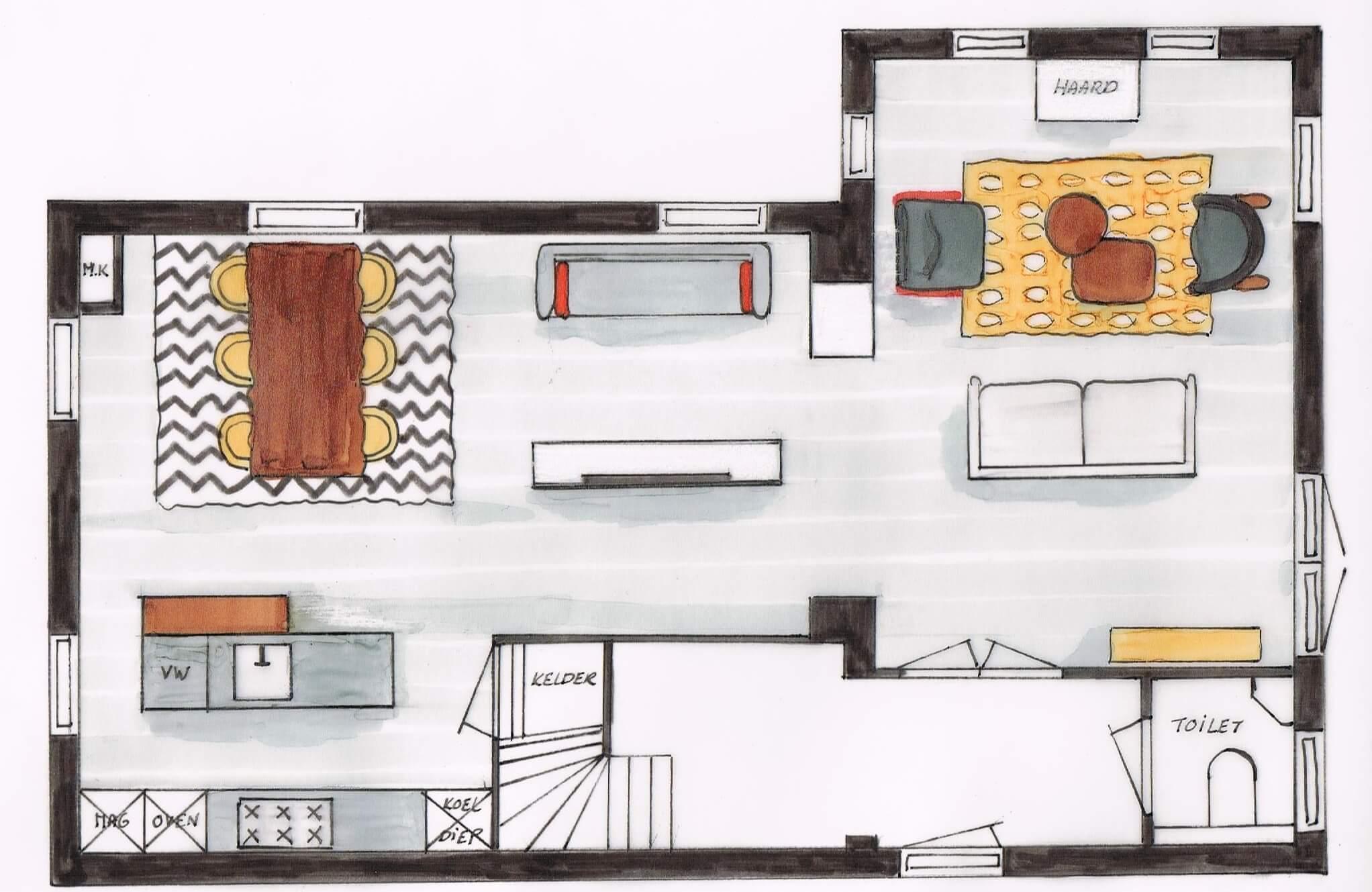Modern/strak interieur in Oosterhout