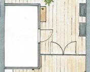 Ontwerp indeling keuken en woonkamer Made
