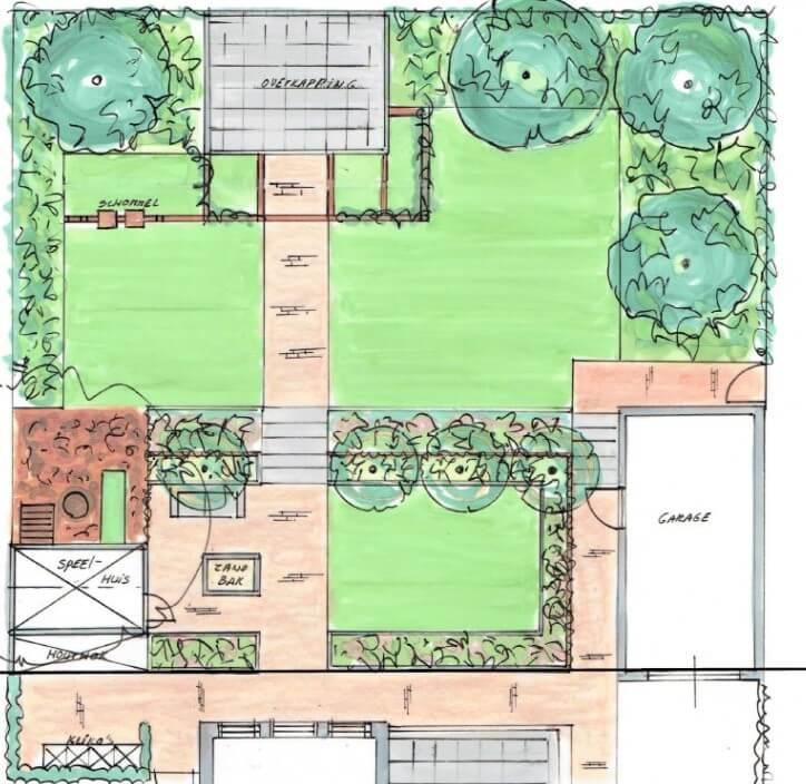 Natuurlijk- strakke tuin in Raamsdonksveer